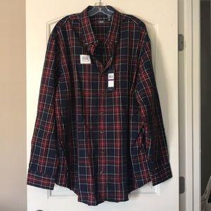 Holiday Tartan Midnight Plaid Button-Down Shirt